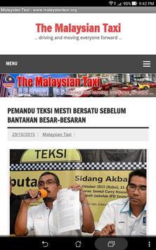 Malaysian Taxi screenshot 1