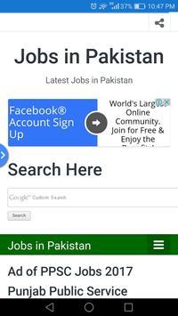 Jobs in Pakistan poster