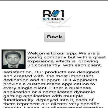RCI-Appineers Business Card screenshot 2