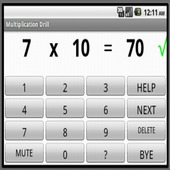 Multiplication Drill with TTS icon