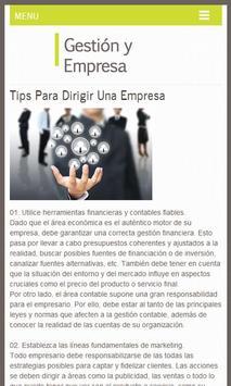 Gestión y Empresa, Tips screenshot 3