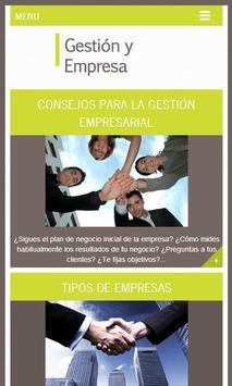 Gestión y Empresa, Tips poster