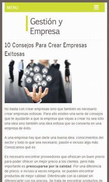 Gestión y Empresa, Tips screenshot 2