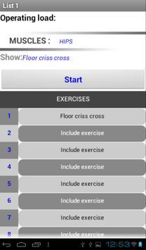 Exercises List Free apk screenshot