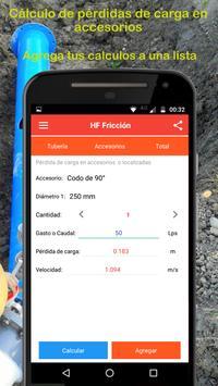 Cálculo de pérdidas de carga apk screenshot