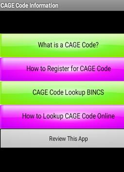 My CAGE Code poster