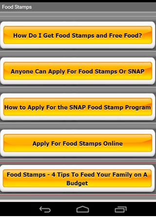 Food Stamp Tips For Android Apk Download