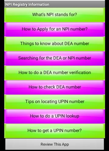 NPI Registry for Android - APK Download