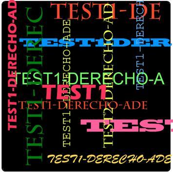 TEST1-DERECHO para ADE poster