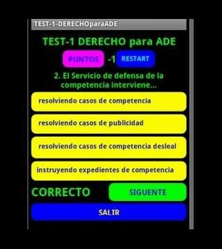 TEST2DERECHO para ADE apk screenshot