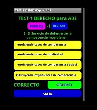 TEST3 Derecho para ADE apk screenshot
