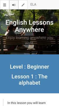ELA - Level : Beginner - Lesson : 1 poster