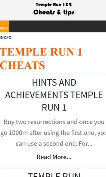 Fanmade Temple Run 1 & 2 Guide apk screenshot