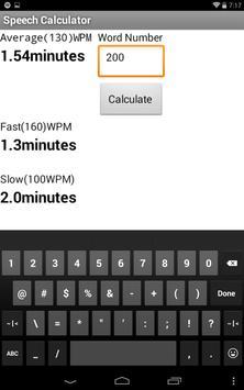 word calculator speech