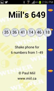 Miil's 649 apk screenshot