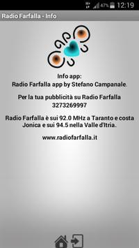 Radio Farfalla screenshot 2