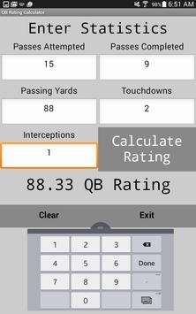 Quarterback Rating Calculator poster