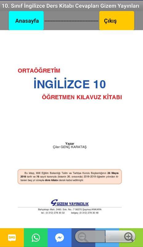 10 Sınıf Ingilizce Ders Kitabı Cevapları Für Android Apk