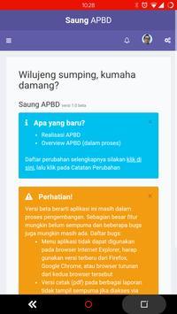 Saung APBD poster