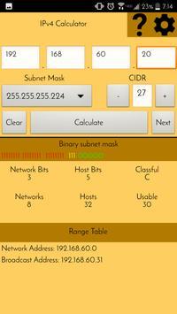 IPv4 Subnetting Calculator apk screenshot