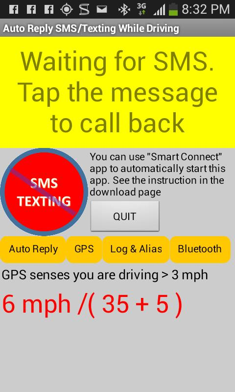 No Text While Driving App >> No Texting While Driving Sms For Android Apk Download
