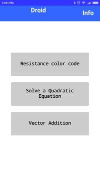Solve Resistance, Quadratic Equations & Vectors poster