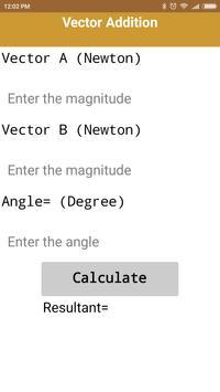 Solve Resistance, Quadratic Equations & Vectors apk screenshot