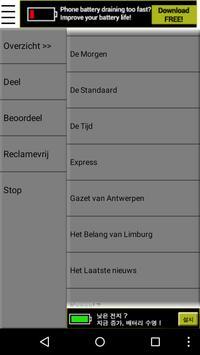 Belgische Kranten en Nieuws apk screenshot