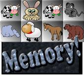 Cartoon animal memory icon