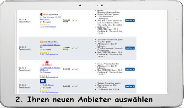 DSL Tarifvergleich 2018 screenshot 2