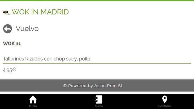 Wok In Madrid apk screenshot
