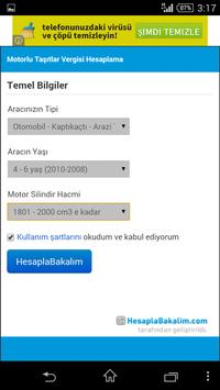 Motorlu Taşıtlar Vergisi Hesap screenshot 2