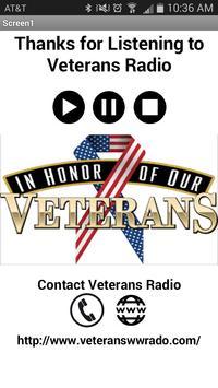 Veterans World Wide Radio apk screenshot
