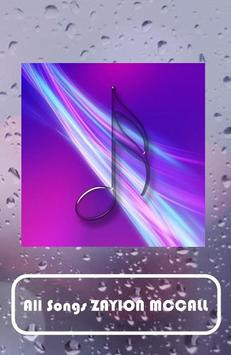 ZAYION MCCALL Songs apk screenshot