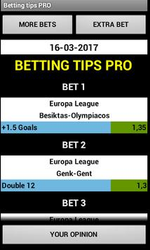 Betting tips PRO poster