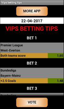 Vips betting tips poster