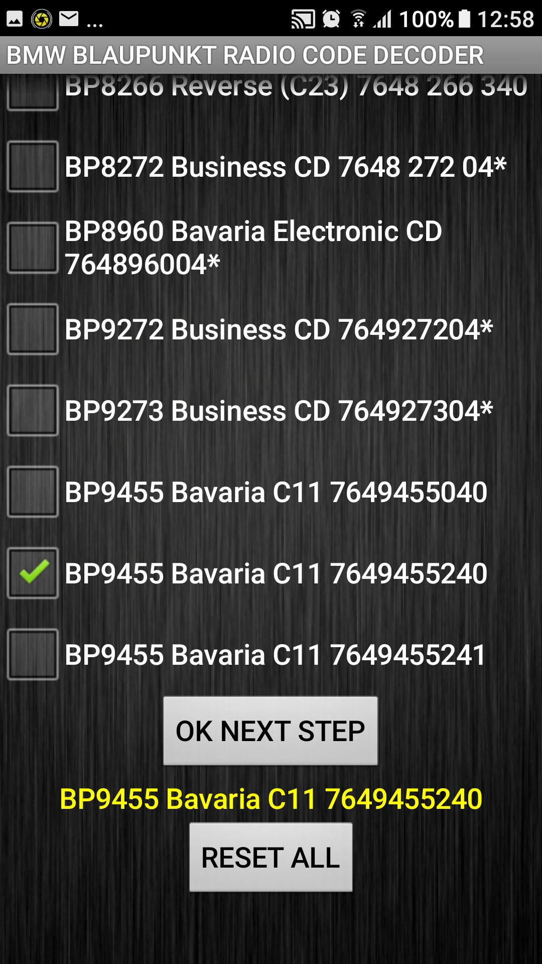 BMW Blaupunkt Radio Code Calculator for Android - APK Download