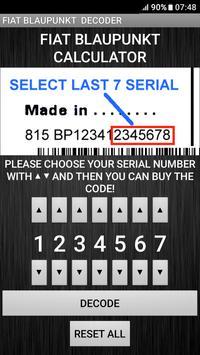 Blaupunkt Fiat Radio Code Decoder screenshot 4