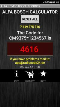 Bosch Alfa Romeo Radio Code Decoder screenshot 5