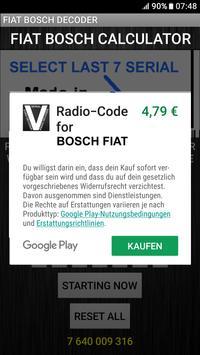 Bosch Fiat Radio Code Decoder screenshot 3
