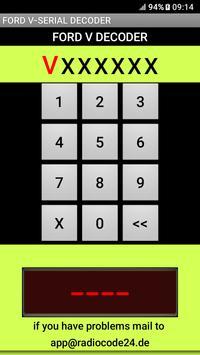 Ford V-Serial Decoder English Version screenshot 1