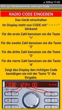 FORDV****** Serie Radio Code Decoder (DEUTSCH) screenshot 3