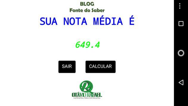 ENEM Calc apk screenshot