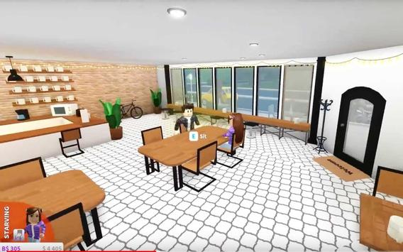 Make a cool trendy coffee shop in Roblox poster