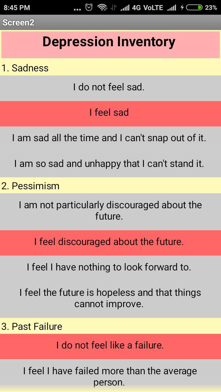 Depression Test - Renu Bala HAU for Android - APK Download