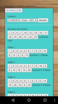 Lotofácil mínimo 11 Pts 100% apk screenshot