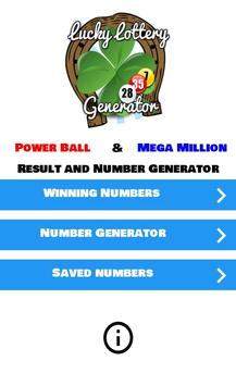 Lucky Lottery Generator poster