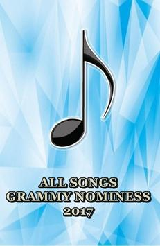 Grammy Nominees Songs 2017 poster