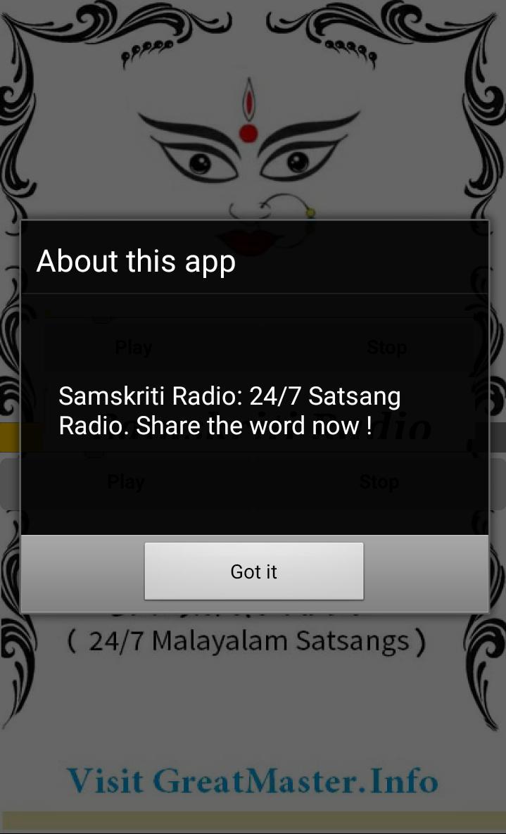 Samskriti Malayalam Radio poster