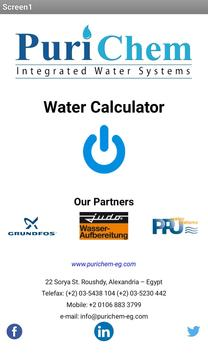 Water Calculator by PuriChem poster